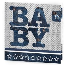 stoer geboortekaartje baby